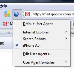 user agent switcher firefox
